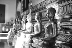 The golden Buddha image. Reverence in Buddhist sutras At Wat Luang Pothit, Thailand Stock Photography