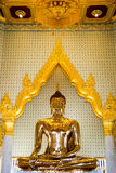 Golden buddha. Image of real gold sculpture of buddha at Wad Phrathong in Thailand Stock Images