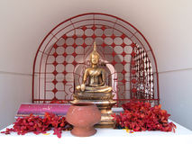 Golden buddha image in temple Royalty Free Stock Photo