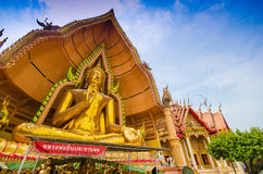 The golden Buddha Image, Wat Tum Sue Stock Photography