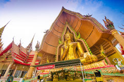 The golden Buddha Image, Wat Tum Sue, Thailand Royalty Free Stock Photo