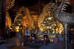 Golden Buddha images. In Bai Dinh temple near Ninh Binh, Vietnam Stock Images