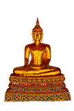 Golden Buddha with Isolated Royalty Free Stock Photos