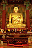 Golden Buddha in Jogyesa temple (Seoul) Royalty Free Stock Photos