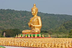 Golden Buddha. Royalty Free Stock Images