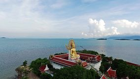 Golden Buddha at Koh Samui island in Thailand. Big stock video