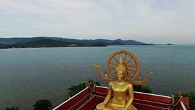 Golden Buddha at Koh Samui island in Thailand. Big stock footage