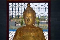 Golden Buddha. Kushinagar, India Royalty Free Stock Image