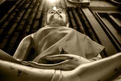 Golden Buddha. Lay light Stock Photos