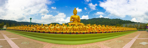 Golden Buddha at Makha Bucha Buddha Memorial Park Royalty Free Stock Image