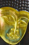 Golden buddha mask Stock Images