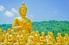 Golden buddha Stock Photo