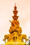Golden Buddha on Mounth Emei Royalty Free Stock Photos