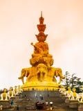 Golden Buddha on Mounth Emei Stock Photography