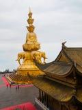 Golden Buddha on Mounth Emei Stock Image