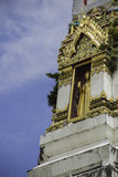 Golden Buddha in pagoda. Golden Buddha in the channel of the pagoda Stock Photo