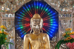 Golden Buddha on pagoda in Kuthodaw temple,Myanmar. Stock Photos