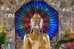Golden Buddha on pagoda in Kuthodaw temple,Myanmar. Stock Photos