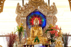 Golden Buddha on pagoda in Kuthodaw temple,Myanmar. Stock Image