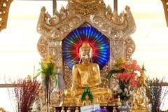 Golden Buddha on pagoda in Kuthodaw temple,Myanmar. Stock Image