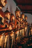 Buddhas in the Grand Palace in Bangkok stock photos