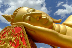 Golden buddha Pha That Luang Royalty Free Stock Photos