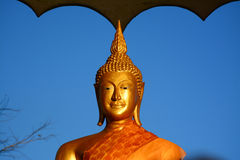 Golden buddha on Phu Rua Royalty Free Stock Image