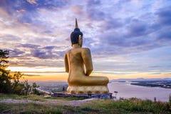 The Golden Buddha at Phu salao temple of Pakse. Laos stock photography