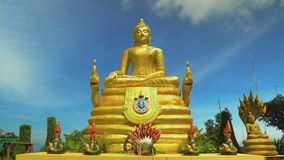The golden buddha, the religious shrine of Asia. Travel and tourism. Buddhism. The golden buddha, the religious shrine of Asia. Travel and tourism. Buddhism stock footage