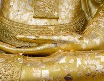 Golden buddha's hand statue Stock Images