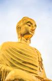 Golden Buddha's image. Located in a Thai temple Royalty Free Stock Photography