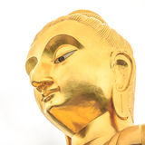 Golden Buddha's image. Located in a Thai temple Stock Image