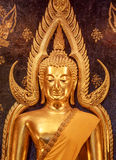 Golden Buddha's image. Phra phuttha chinnarat is one of the most beautiful buddha image. This buddha image located in a public temple called Wat Phra Sri Rattana Stock Images