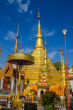Golden Buddha s relics Royalty Free Stock Photography