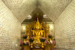 Golden Buddha in Sanda Muni Paya,Myanmar. Royalty Free Stock Image