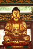 Golden Buddha sculpture. At Chin Swee Caves Temple, Malaysia Royalty Free Stock Images
