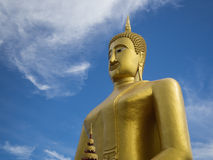 Golden buddha sculture stock photography