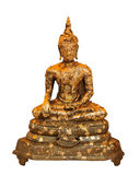 Golden buddha sitting Stock Photography