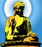 Golden Buddha Sitting Illustration Stock Images