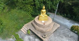 Golden Buddha small statue in Phuket stock footage