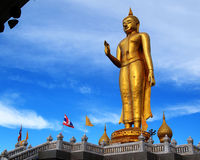 Golden  Buddha. Golden Buddha in Songkhla, southern Thailand Stock Images