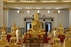 Golden buddha at Sothorn Temple. Buddha Temple in thailand very nice and art stock photos