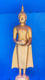 Golden buddha stand statue Stock Photography