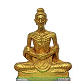 Golden Buddha Statue. Buddha Statue isolated on white Royalty Free Stock Image