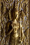 Golden Buddha statue . Royalty Free Stock Photography