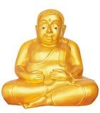 Golden Buddha statue. Isolated on white background Royalty Free Stock Image
