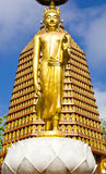 Golden Buddha statue. Royalty Free Stock Image