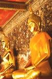 Golden buddha statue. In the church,Sutuch temple in Bangkok Thailand Stock Photos