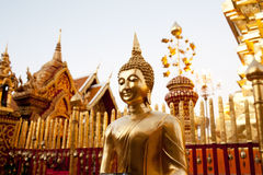 Golden Buddha statue Stock Photo