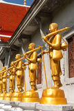The golden Buddha statue Stock Photo